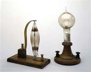An Arc Lamp Was The First Form Of Electric Lighting It Was Build And  Designed By Sir Humphrey Davy In 1807. The Lamp Is Comprised Of Two Carbon  Rod Which ...